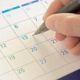 カレンダーにスケジュールを書く