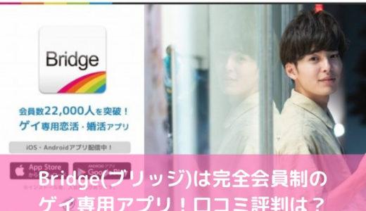 Bridge(ブリッジ)は完全会員制のゲイ専用アプリ!口コミ評判は?