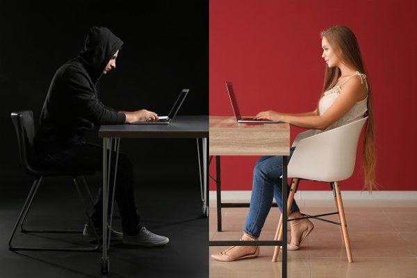 ネットを使って女性を騙す
