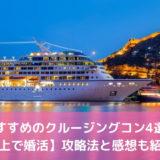 【船上で婚活】おすすめのクルージングコン4選!攻略法と感想も紹介