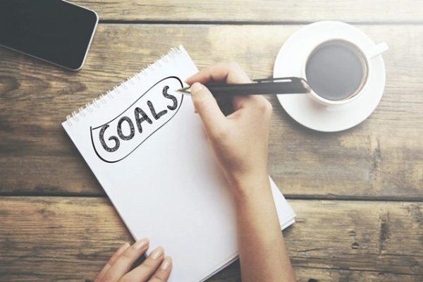 目標を書いたノート